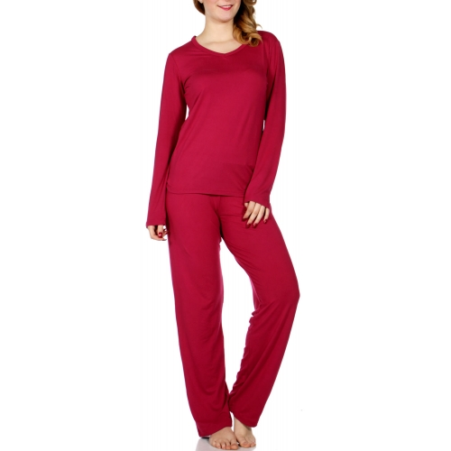 Wholesale E08A Solid pj top & pants set BTRD