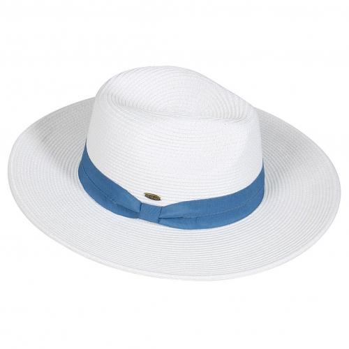 Wholesale W64-1 Simple band panama hat BLK/BLK