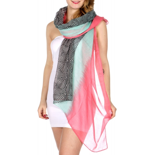 Wholesale I10C Multi pattern stripes print scarf PI