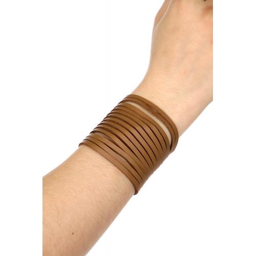 Wholesale WA00 Multi layer leather bracelet GDBLK
