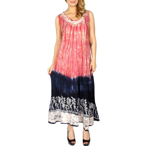 Wholesale K17D Double dye palm tree embroidered long umbrella dress