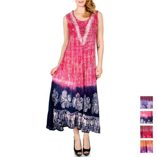 Wholesale M36D Double dye flower embroidered long umbrella dress