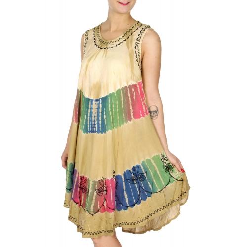Wholesale K34C Colorful vertical tie dye short dress