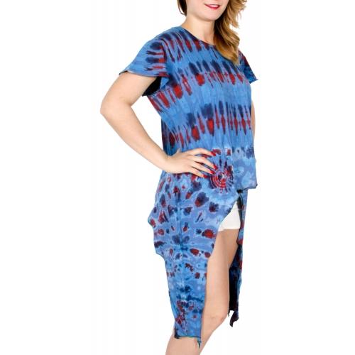 Wholesale K25B Side tails tie dye top