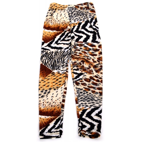 Wholesale A28 Multi animal print kids softbrush leggings