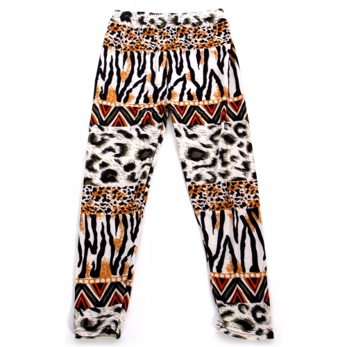 Wholesale A28 Horizontal animal print kids softbrush leggings