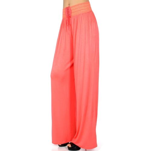 Wholesale O10B Corset detail waist comfort palazzo pants Black