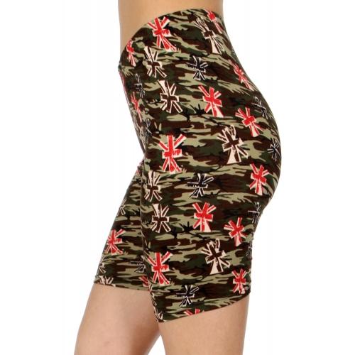wholesale E40B Camouflage asterisk softbrush bermuda leggings