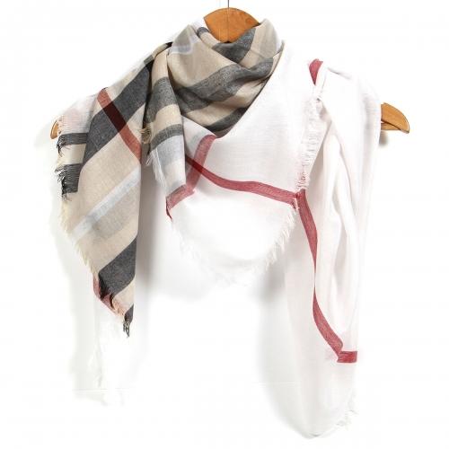 Wholesale BX00 Classic check square scarf BG