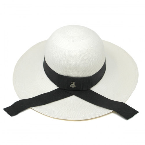 Wholesale V03B Premium handmade round top Panama hat from Ecuador White