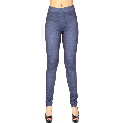 Wholesale E01B Simple jeggings Denim Grey