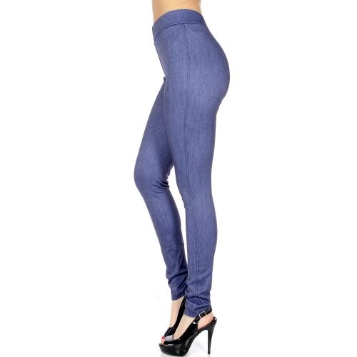 Wholesale A07 No pocket jeggings Denim Blue