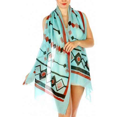 Wholesale H32E Tribal Pattern Scarf MT