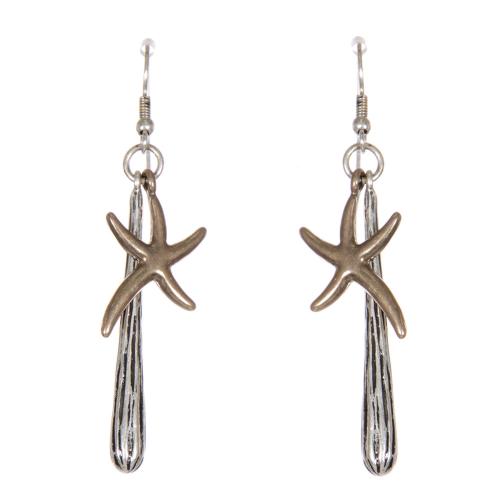 Wholesale WA00 Dancing starfish earrings SB.GB