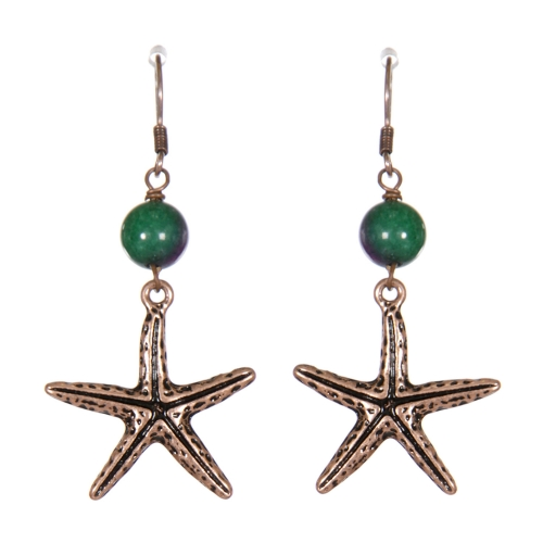 Wholesale WA00 Starfish dangling earrings CB