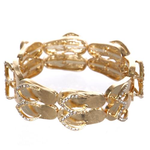 Wholesale WA00 flip-flop pair w/ bead for Bracelet GD