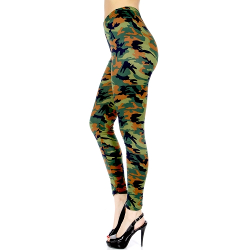 wholesale C16A Camouflage print leggings Green