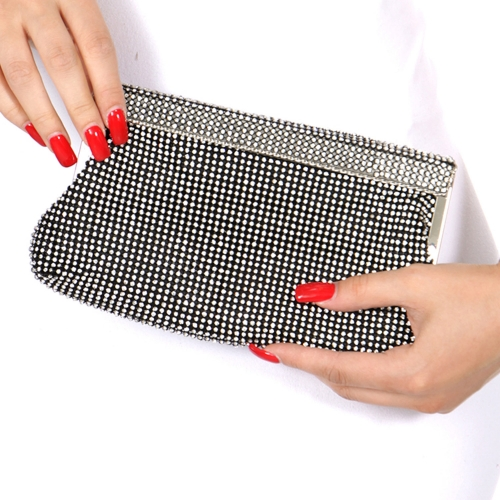Wholesale N16C Rhinestone evening bag Black