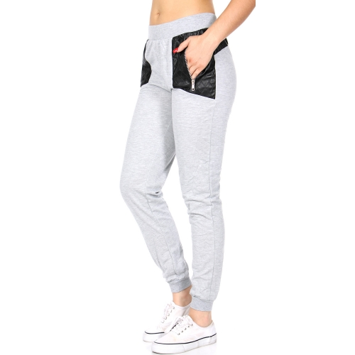 Wholesale E27A Ladies french terry jogger Grey