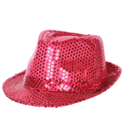 wholesale W80 Sequin fedora hat R.Blue fashionunic