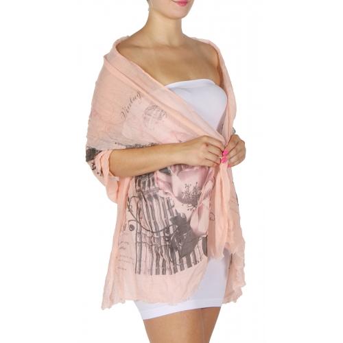 Wholesale I45A Tower of London print lightweight summer scarf Dozen
