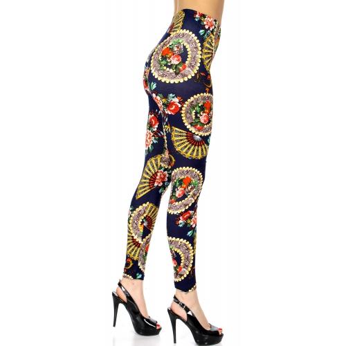 Wholesale B02 Oriental flowers printed Leggings