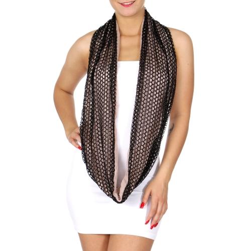 Wholesale I41 Two tone lightweight lace infinitiy scarf Dozen