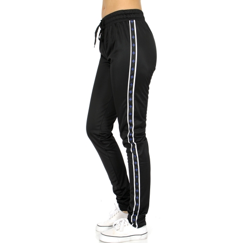 Wholesale B04D Stripes & plus trim jogger pants BL