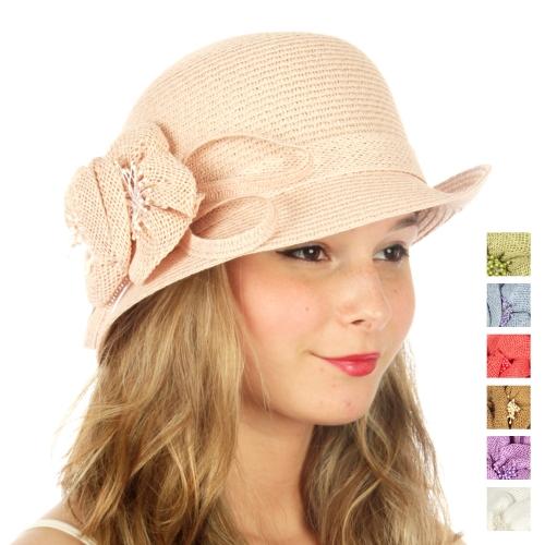 wholesale V62BX0 Brim hat w/ adornment Black fashionunic