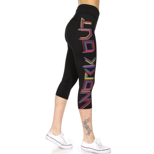Wholesale N02C WORK OUT neon sign active capri Black