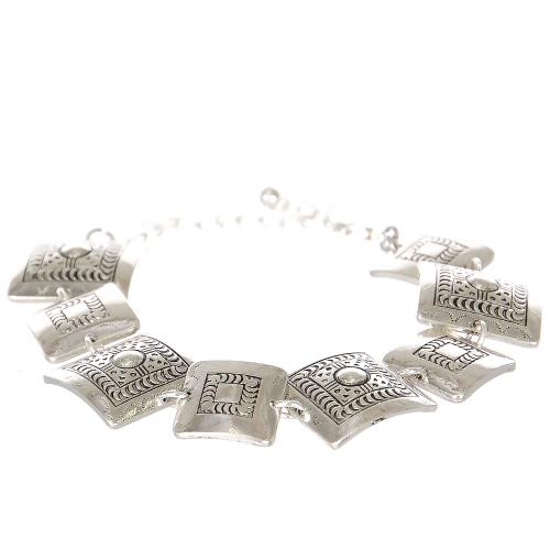 Wholesale L07C Tribal square metal bracelet SV