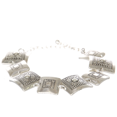 Wholesale L07C Tribal square metal bracelet SV