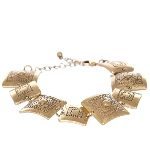 Wholesale L07C Tribal square metal bracelet GB