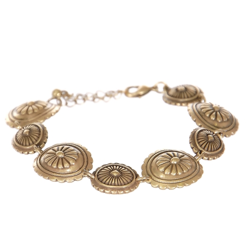 Wholesale L23B Flower carved circles metal bracelet GB