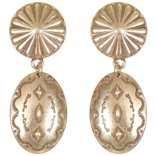 Wholesale L06E Flower & geometry oval earrings GB