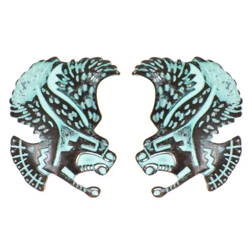 Wholesale L02B Tribal hawk clip earrings OG