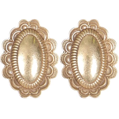 Wholesale L01D Oval flower clip earrings GB