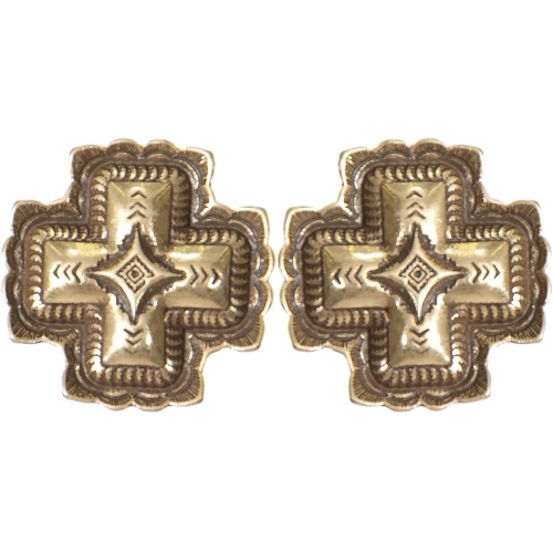 Wholesale L01D Diamond carved cross clip earrings SV