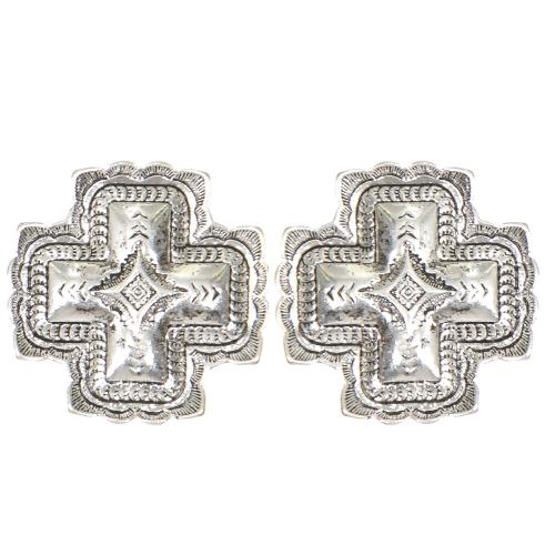 Wholesale L01D Diamond carved cross clip earrings GB