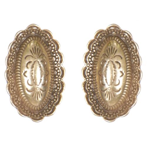 Wholesale L01B Flower carved diamond shape clip earrings GB