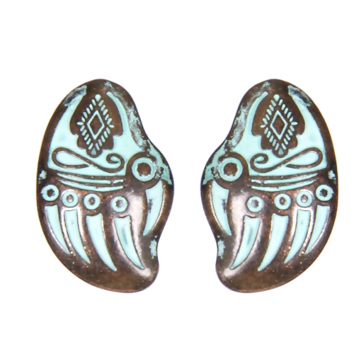Wholesale L02E Indian hand clip earrings OG