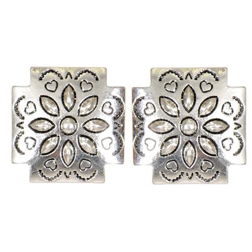 Wholesale L05C Hearts & flower carved cross clip earrings SV