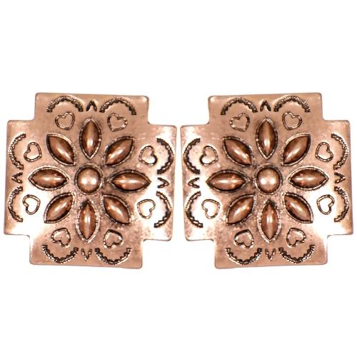 Wholesale L05C Hearts & flower carved cross clip earrings CB