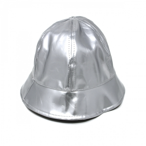 Wholesale T24C Shiny Faux Leather Bucket Hat ROD