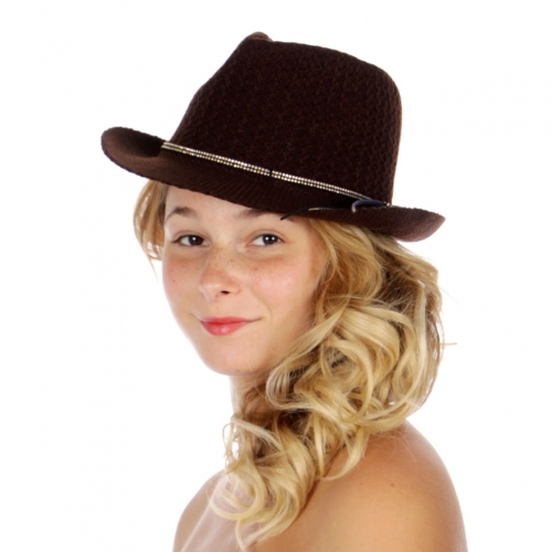 Wholesale V70 Soft studded suede strings fedora BR