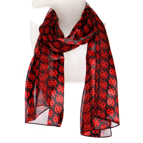 Wholesale N10B Black and red satin scarf