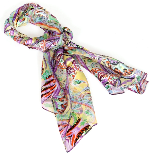 Wholesale M37C Paisley satin scarf
