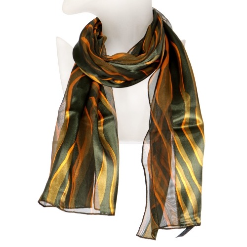 Wholesale N10B Wave prints satin scarf