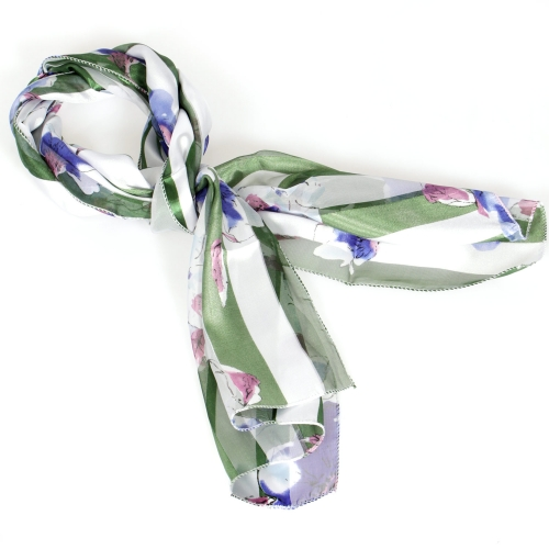 Wholesale M29A Rose print satin scarf