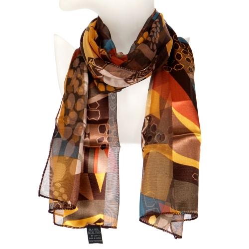 Wholesale WA00 Multi pattern satin scarf